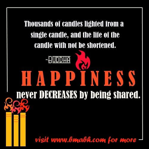 happiness quotes and sayings images on www.bmabh.com-Happiness never decrease by been shared