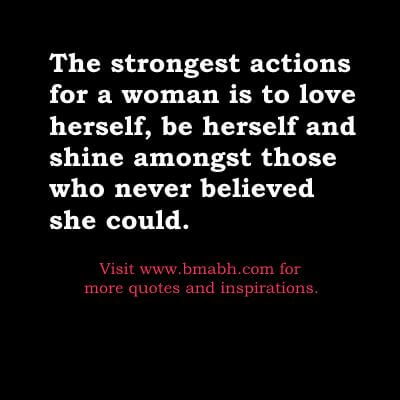 The strongest actions for strong women quotes image bmabh