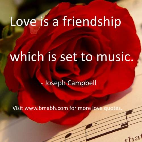 funny love quotes picture-Love is a friendship which is set to music