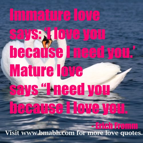 Top 10 I Love You Quotes For Her : love you quotes for husband with pictures-Immature love says I love ...
