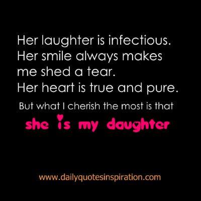 Heart Melting Mother Daughter Quotes -Her Smile makes me smile. Her laugh is infectious.