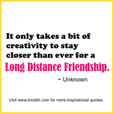 How to maintain long distance friendship