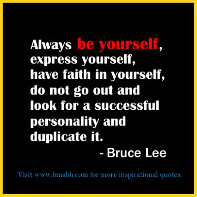 Bruce Lee quotes always be yourself