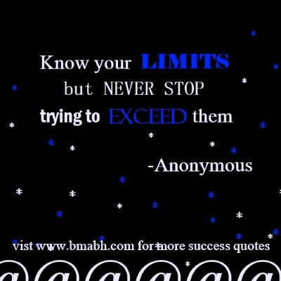 Quotes About Success-Know your limits but never stop trying to exceed them