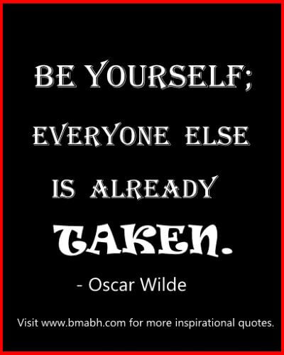 popular life quotes-be yourself; everyone else is already taken