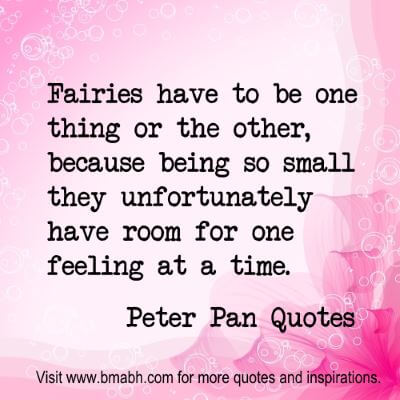 Peter Pan Quotes at www.bmabh.com #feeling