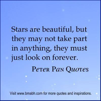 Peter Pan Quotes at www.bmabh.com #stars