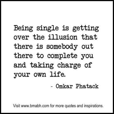 Single Quotes and sayings at www.bmabh.com #being single quotes