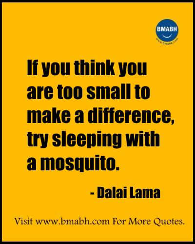 Witty Funny Quotes By Famous People With Images from www.bmabh.com- If you think you are too small to make a difference, try sleeping with a mosquito