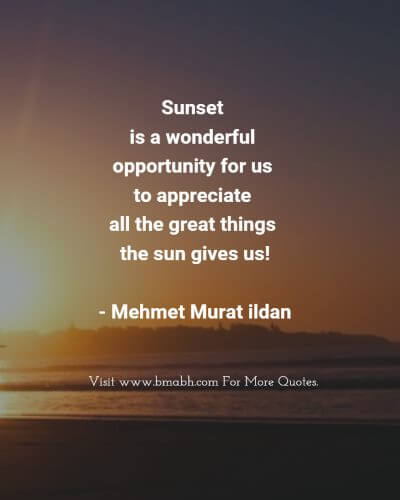 Sunset Quotes And Sayings