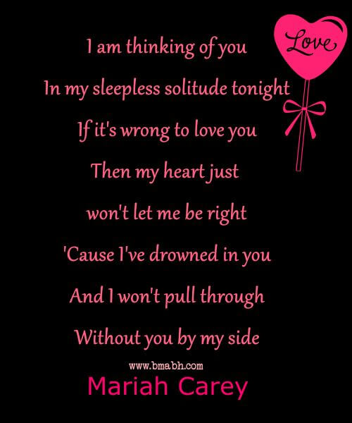 I am thinking of you quotes